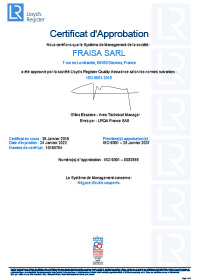 Certification FRAISA France